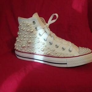 a8fbd20302987e Women s Custom Converse Wedding Shoes on Poshmark